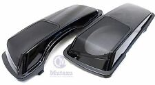 Mutazu CVO 6 x 9 Speaker Lids Vivid Black for Harley Touring Saddlebag 1994-2013