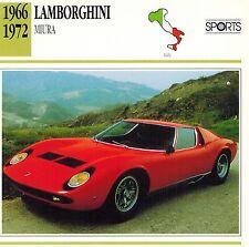 """LAMBORGHINI 1966-1972  """"MIURA"""" ADVERTISING BROCHURE"""