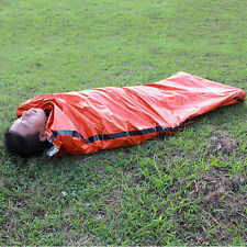 Orange Outdoor Camping Emergency Warm Heat Waterproof Survival Sleeping Bag FH3