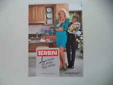advertising Pubblicità 1990 CUCINE SCAVOLINI e LORELLA CUCCARINI