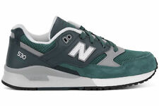 Women's NEW BALANCE 530 RUNNING SHOES Sz 7.5 Green Suede Retro Trainers W530AAF