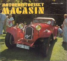 Motorhistoriskt Magasin Swedish Car Magazine #3 1987 Alfa Romeo 031617nonDBE