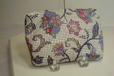 Never Used ~WHITING and DAVIS~ Floral Pattern METAL Cosmetic BAG Made in USA
