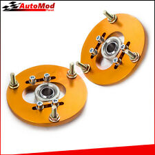 2pcs Coilover Pillowball Camber Top Mounts Front Camber Plate for BMW E36 Golden