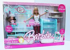 Barbie I can be Cake Baker Play Set with 2 Dolls 2006 NRFB Mattel Retired