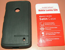 Body Glove Satin case AT&T GoPhone Nokia Lumia 520, one part slip on Gel, Gray