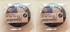 2x BMW Emblem 82mm OEM 2Pin Vorne oder Hinten Motorhaube Kofferraum 3er 5er 7er
