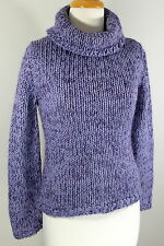 EXPRESS Sz S Purple Chunky Knit Wool Mohair Blend Turtleneck Sweater SS1-38