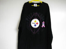 PITTSBURG STEELERS WOMENS NFL Team Apparel Cotton Long FOOTBALL Shirt M