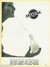 PUBLICITE ADVERTISING 125  1960  Orangina  boisson aux oranges