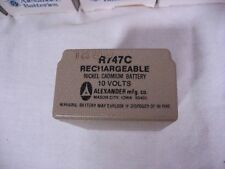 Alexander Battery Dry Cell Rechargeable Nickel Cadmium 10v R747C  (NOS)
