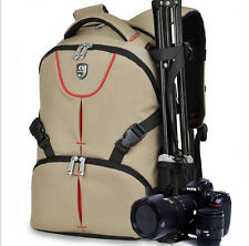 cámara DSLR Mochila Funda Para Nikon Canon Sony Pentax+Funda Lluvia