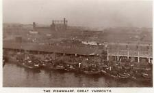 Fishwharf Great Yarmouth Sea Fishing Boats Drifters unused RP old pc