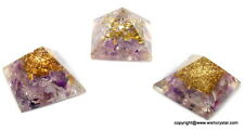 REIKI ENERGY CHARGED AMETHYST CRYSTAL ORGONE PYRAMID POWERFUL ENERGY GENERATOR