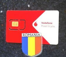 New! Romania Vodafone SIM card activated internet micro nano romanian Rumänien