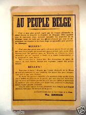 GUERRE 14-18 : CARTE POSTALE AU PEUPLE BELGE SEPT 1918 / BELGIQUE