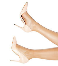 HOUSE OF CB 'RIMINI' Peach Leather Pointy Toe Pumps 'FAULTY' SS 4037