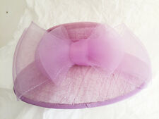 Beautiful Wedding Ladies Formal Hat sinamay with lilac bow