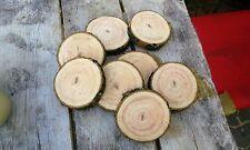5 Baumscheiben, Holzscheibe, 30x2 cm, Esche, teilweise ohne Rinde