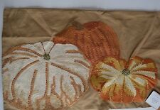 "Pottery Barn Pumpkin Patch Embroidered Lumber Pillow Cover 16 x 26"" #116"