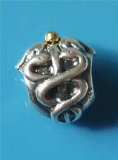 Authentic Pandora Sterling Silver 14K Gold Life Saver Charm 791042