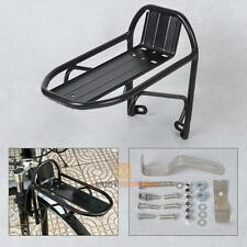 New Black Aluminum Alloy Bike Bicycle Front Rack Luggage Shelf Panniers Bracket