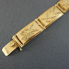 Art Deco Granulations Silber 900 Armband m Gold signiert wohl Marga Jess? [y164]
