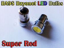 2x 1.5W Bayonet BA9S 1895 T4W SMD Red Power LED Lamp Parker Indicator Stop Bulb