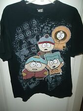 South Park Black T-Shirt  Cartman Kenny Chef Stan Eric Comedy Central Size Large