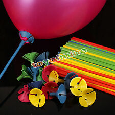 10pcs palloncino  Sticks feste supporto di plastica