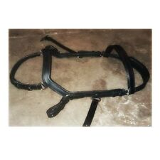 Micklem competition style BLACK leather bridle Extra Full size & reins
