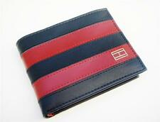 NEW TOMMY HILFIGER MEN'S WORCHESTER NAVY LEATHER CREDIT CARD PASSCASE WALLET