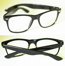 Screen GLASSES NO GLARE Computer TV ANTI FATIGUE No RX  Black Wayfarer Frame