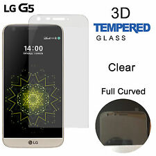 100% LG G5 3D Curved Anti Scratch Impact Tempered Glass Screen Protector Clear
