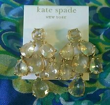 Kate Spade Chandelier Gold And Clear Earrings