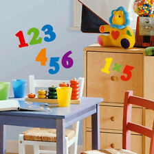 NUMBERS wall stickers 48 Colorful decal School Counting scrapbook playroom decor
