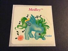 Vintage Scratch and Sniff Sticker - My Little Pony - Medley - Dated 1984