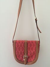 ALDO Beautiful Coral Small Crossbody Shoulder Perforated Bag Buckle Adjustable