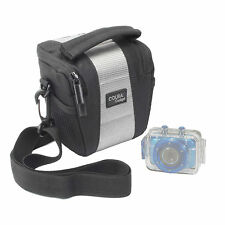 Carry Case Bag for Vivitar DVR 785HD Action Camera in Black and Grey