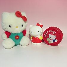 LOTS OF 3 ! Retro HELLO KITTY Plush Doll & Coin Bank & Coin Parse Set Sanrio