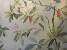 """sanderson fabric curtain material""""CHERRY BOUGH""""lovely 2.8mtrs 54"""" wide LINEN"""