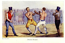 BARE KNUCKLE PRIZEFIGHTING, FIST FIGHT, BOXING REFEREE ALKEN PRINT 1903