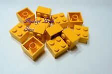 LEGO 2x2 Yellow Bricks - Lot/15 3182 4555 6597 10189 4997 6360