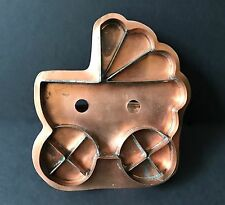 Baby Carriage/Pram/Stroller Collector's Copper Cookie Cutter by Simon