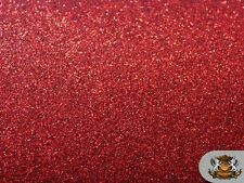 """Glitter Stardust RED Crafting Vinyl Fabric / 54"""" Wide / Sold by the yard"""