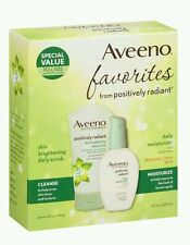 Aveeno Favorites from Positively Radiant Daily Scrub & Moisturizer Set