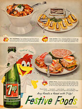 1960 vintage soft drink AD  7-UP Soda  Frsh Up Freddie Cartoon Character  031915