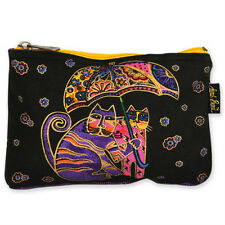 LAUREL BURCH - FELINE MINIS COSMETIC BAG -UMBRELLA CATS- NWT!