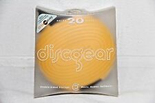 Discgear DISCUS Yellow 20 Disc/DVD/CD Wallet Travel Storage Container/Case NEW!