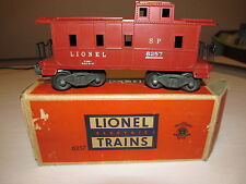 LIONEL No.6257 SP-TYPE CABOOSE-PAINTED MAROONWITH ORIGINAL BOX